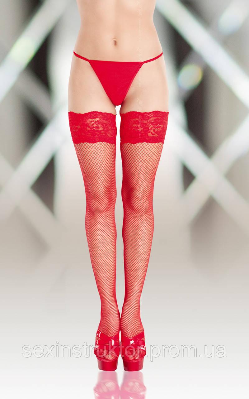 Чулки - Stockings 5517, red