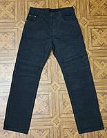 Вельветовые черные подростковые брюки для мальчика прямого фасона, р.158