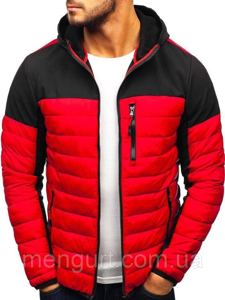 Демисезонная спортивная куртка мужская  со съемным капюшоном Польша