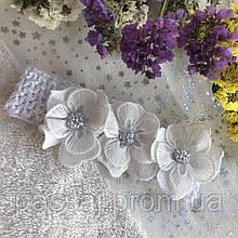 Повязка с цветами для малыша, новорожденного, девочки Hand Made