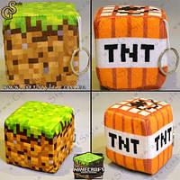 """Плюшевые Блоки-брелки из Minecraft - """"Plush Blocks"""" - 1 шт!, фото 1"""