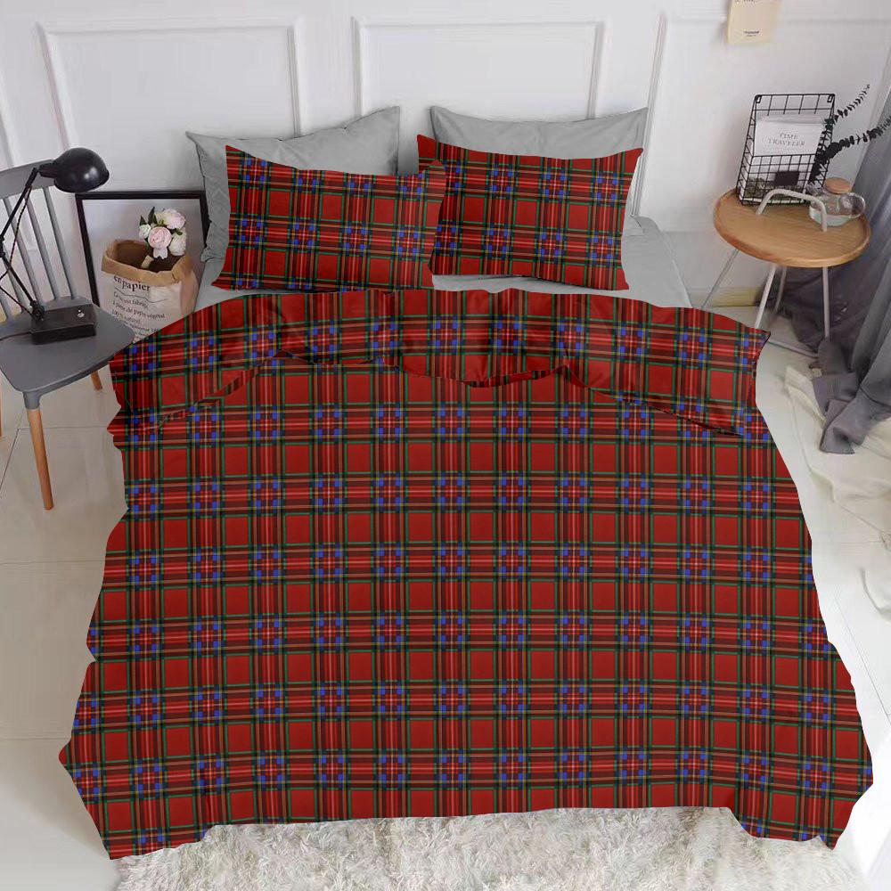 Комплект полуторного постельного белья SCOTTISH RED GREY