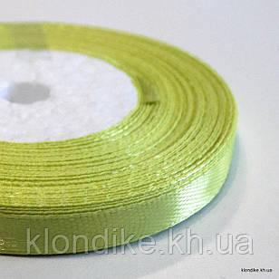 Лента атласная, 0.6 см, Цвет: Бледно-зелёный (32 метров/уп.)