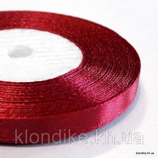 Лента атласная, 0.6 см, Цвет: Бордовый 1 (32 метров/уп.)