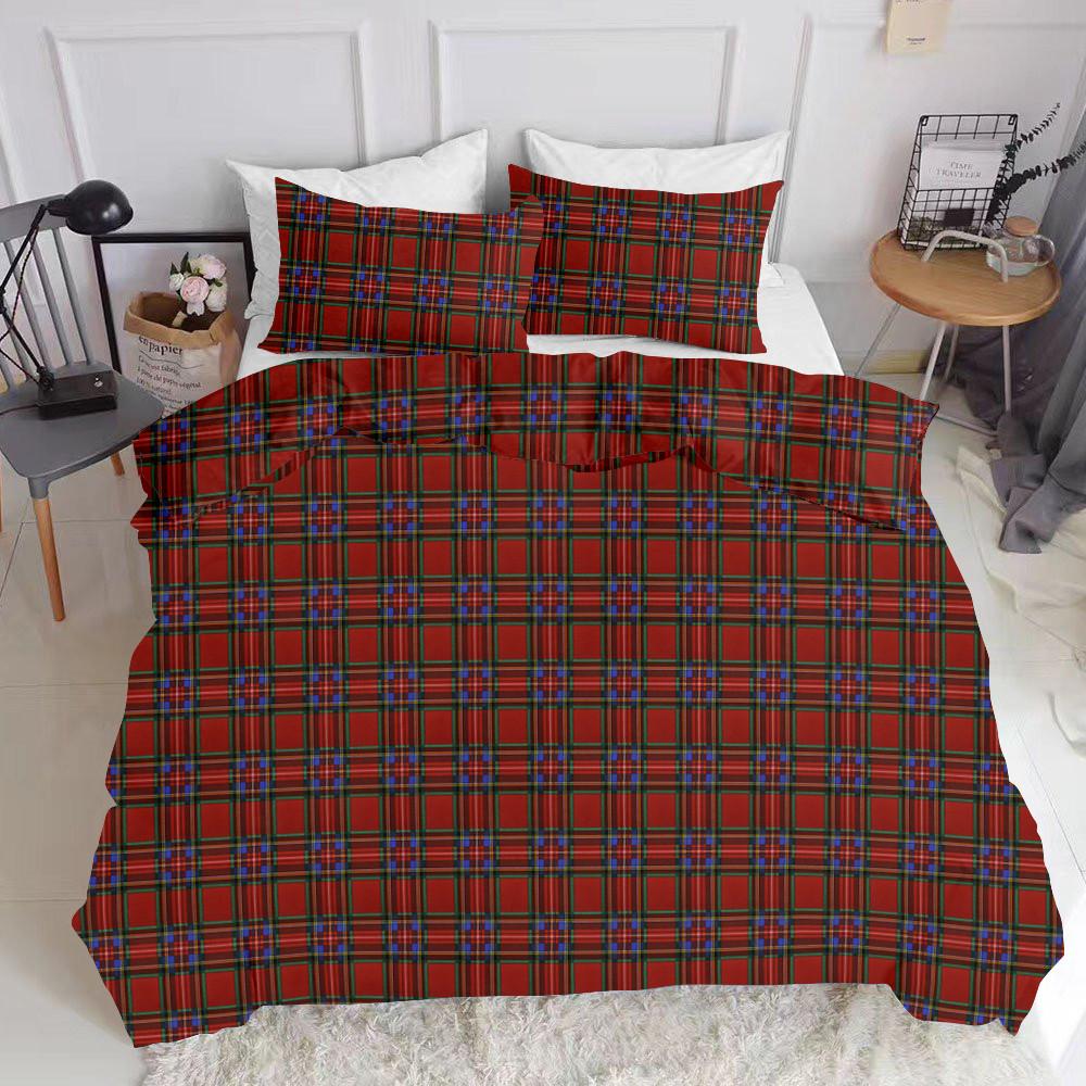 Комплект полуторного постельного белья SCOTTISH RED WHITE