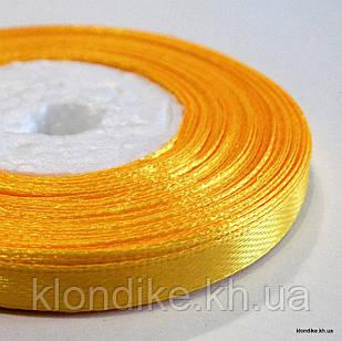 Лента атласная, 0.6 см, Цвет: Жёлто-оранжевый (32 метров/уп.)