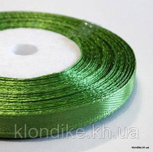 Лента атласная, 0.6 см, Цвет: Зеленый 2 (32 метров/уп.)