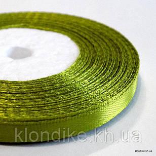 Лента атласная, 0.6 см, Цвет: Зеленый 3 (32 метров/уп.)