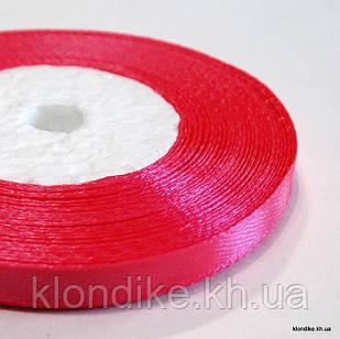 Лента атласная, 0.6 см, Цвет: Красно-малиновый (32 метров/уп.)