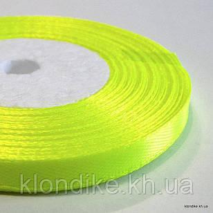 Лента атласная, 0.6 см, Цвет: Лимон (32 метров/уп.)