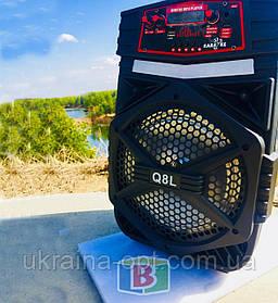 Портативная караоке колонка. Bluetooth. Работает 4-5 ч. Микрофон. Подсветка. 15 W. Q8L