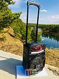 Портативная караоке колонка. Bluetooth. Работает 4-5 ч. Микрофон. Подсветка. 15 W. Q8L, фото 8