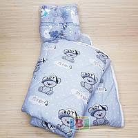 Подушка бабочка с хлопковым одеялом. Размер одеяла: 140х110 см. Разные цвета!