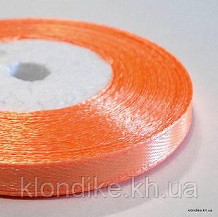 Лента атласная, 0.6 см, Цвет: Оранжевый (32 метров/уп.)