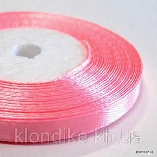 Лента атласная, 0.6 см, Цвет: Розовый (32 метров/уп.)