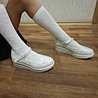 Школьные трендовые туфли на платформе девочкам, р. 30,31,32,34,35,36,37. Белые, фото 2