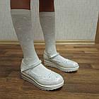 Школьные трендовые туфли на платформе девочкам, р. 30,31,32,34,35,36,37. Белые, фото 3