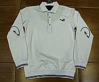 Стильна трикотажна сорочка -поло для хлопчика на ріст 134-170 см