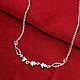 Колье сердечки покрытие 925 серебром, фото 2