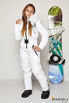 Тёплый лыжный  комбинезон для девочки - подростка красного цвета с мехом натурального песца  36, 38, 40, фото 3