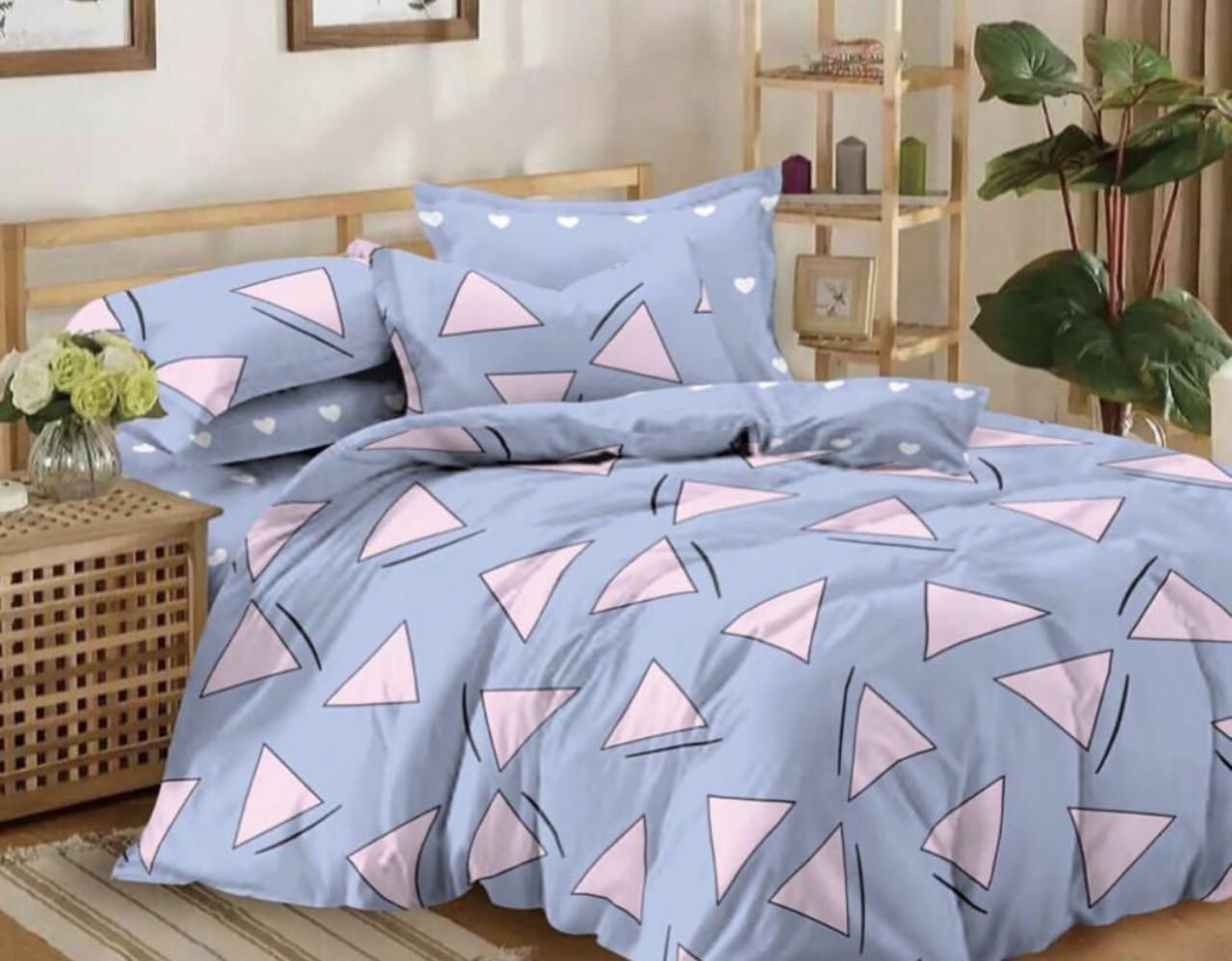 Двуспальный размер постельного белья бязь «Голубая мечта»