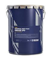 Універсальнелітієвемастило з молібденом MANNOL EP-2 Multi-MoS2 Grease  18 кг