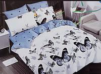 Двуспальный размер постельного белья бязь «Бабочки»