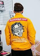 Куртка - ветровка оранжевая мужская унисекс модная крутая осенняя от Skatepark Скейтпарк