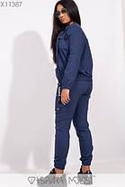 Молодёжный спортивный костюм из стрейч джинса батал с 48 по 54 размер, фото 3