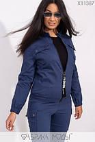 Молодёжный спортивный костюм из стрейч джинса батал с 48 по 54 размер, фото 2