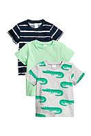 Детские футболки мальчику (комплект 3 шт) 9-12 месяцев,  1,5-2 года
