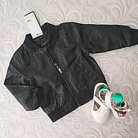 Детская черная кожаная куртка, фото 1