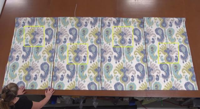 Римские шторы своими руками ― раскладка ткани