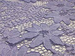 Гипюр французский цветочная композиция, джинсовый
