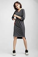 Женское прямое платье в спортивно-элегантном стиле туника женская