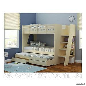 Дитяча двох'ярусна ліжко горище Дюл 34