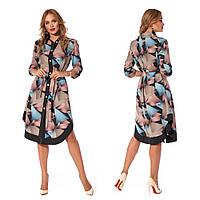 Платье-рубашка с поясом (р.44,46,48,50) софт