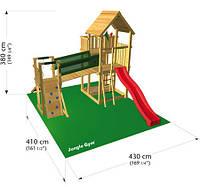 """Детский игровой комплекс Jungle Gym (горка+ домик+ площадка) """"Пэлэс"""""""