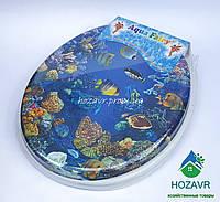 Мягкое сиденье для унитаза Aqua Fairy риф