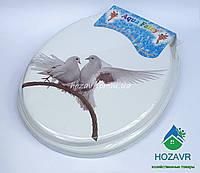 Мягкое сиденье для унитаза Aqua Fairy голуби