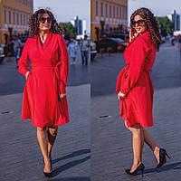 Женское платье на запах Костюмка Размер 48 50 52 54 56 58 60 62 В наличии 3 цвета, фото 1