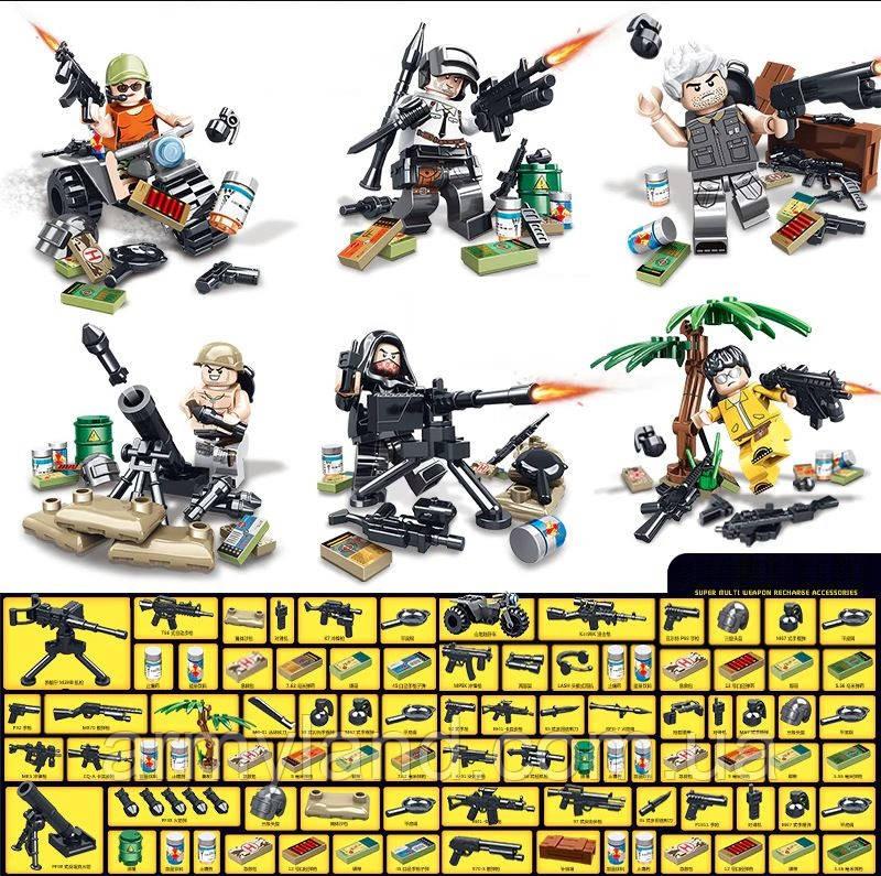 Военные Фигурки  PUBG 3. конструктор, BrickArms