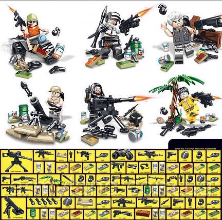 Военные Фигурки  PUBG 3. конструктор, BrickArms, фото 2