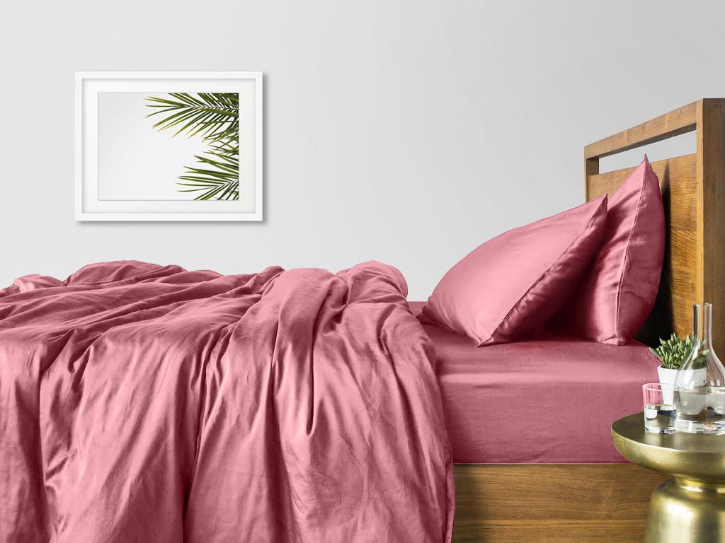 Комплект полуторного постельного белья сатин PUDRA