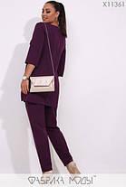 Женский повседневный костюм-брюки и удлинённая блуза батал с 48 по 62 размер, фото 3