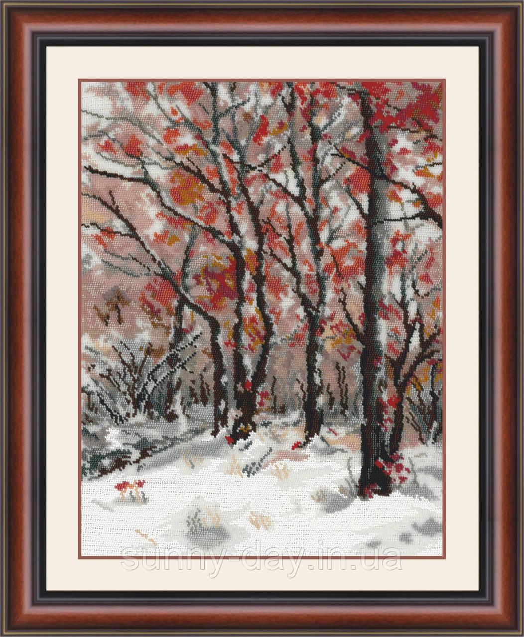 """Набор для вышивания бисером """"Снег в октябре"""""""