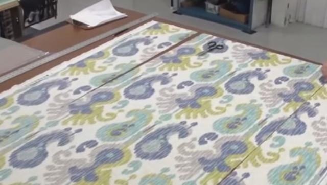 Римские шторы своими руками ― крой ткани