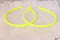 Обруч для волос (ободок) пластмассовый 8 мм желтого цвета