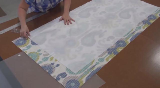 Римские шторы своими руками ― подкладка