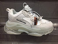 Женские кроссовки Balenciaga Triple S Sneakers 2019 White/Beige РЕПЛИКА, фото 1